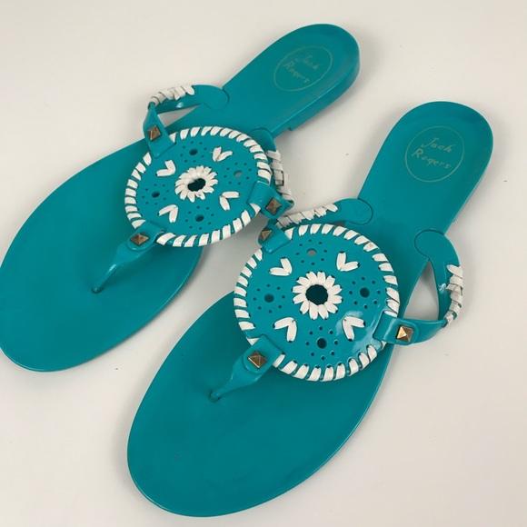 d7a521399ef5 Jack Rogers Shoes - Jack Rogers Georgica Jelly Sandal Turquoise